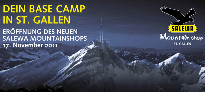 SALEWA Mountainshop St. Gallen Eröffnung